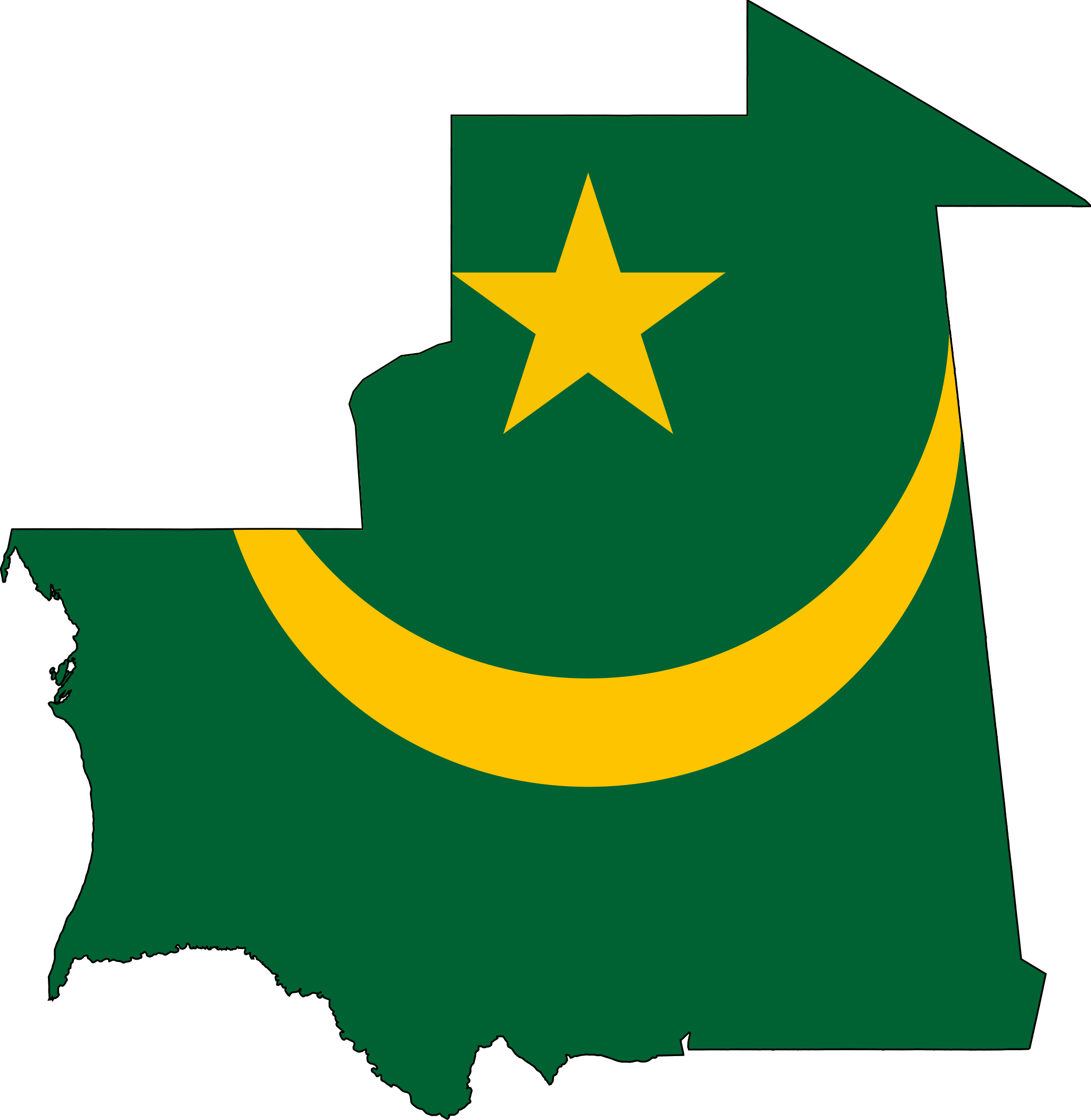 Mauritania_bayrak_harita