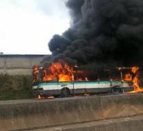 Côte d'ivoire: Un bus a pris feu en plein circulation