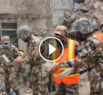 Népal: Un bébé de 4 mois a été sauvé après avoir passé plus de 22h sous les décombres