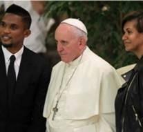 Le couple Eto'o se marient devant le pape François