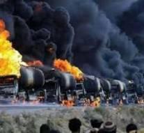 Un convoi de 30 camions-citernes appartenant à Daech détruit