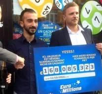 Un Belge, vainqueur de l'EuroMillions, veut partager ses 168 millions d'euros avec « ceux qui en ont besoin »