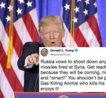Donald Trump menace la Russie et promet de bombarder la Syrie