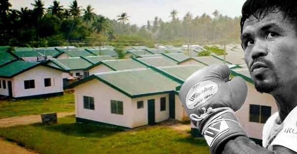Le champion du monde de boxe Manny Pacquiao a construit 1 000 logements pour les pauvres philippins