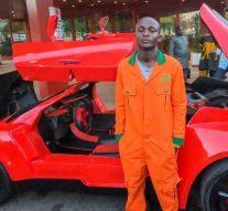 Jerry Isaac Mallo, 25 ans, a fabriqué la première voiture de sport en fibre de carbone du Nigéria
